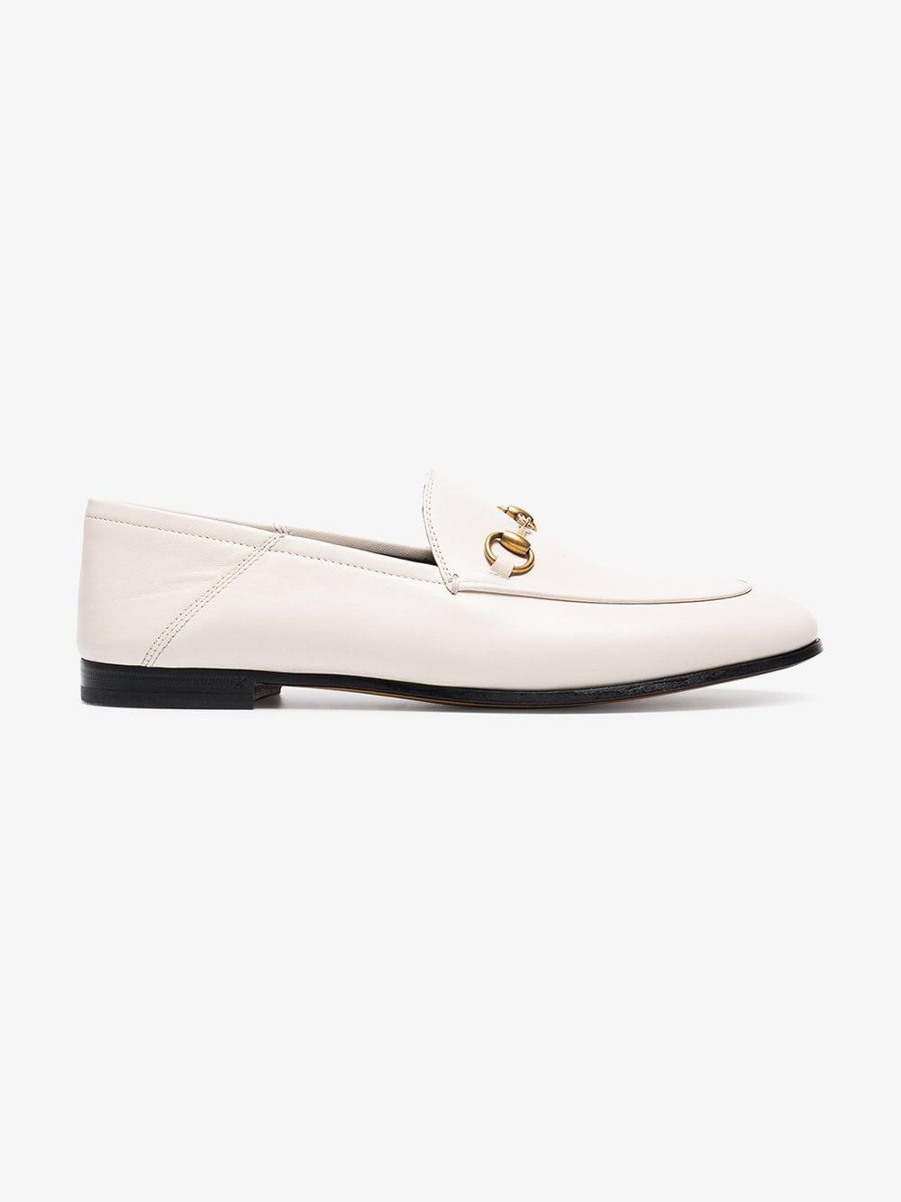 f459025c47b Gucci - White Brixton Loafers - Lyst. View fullscreen