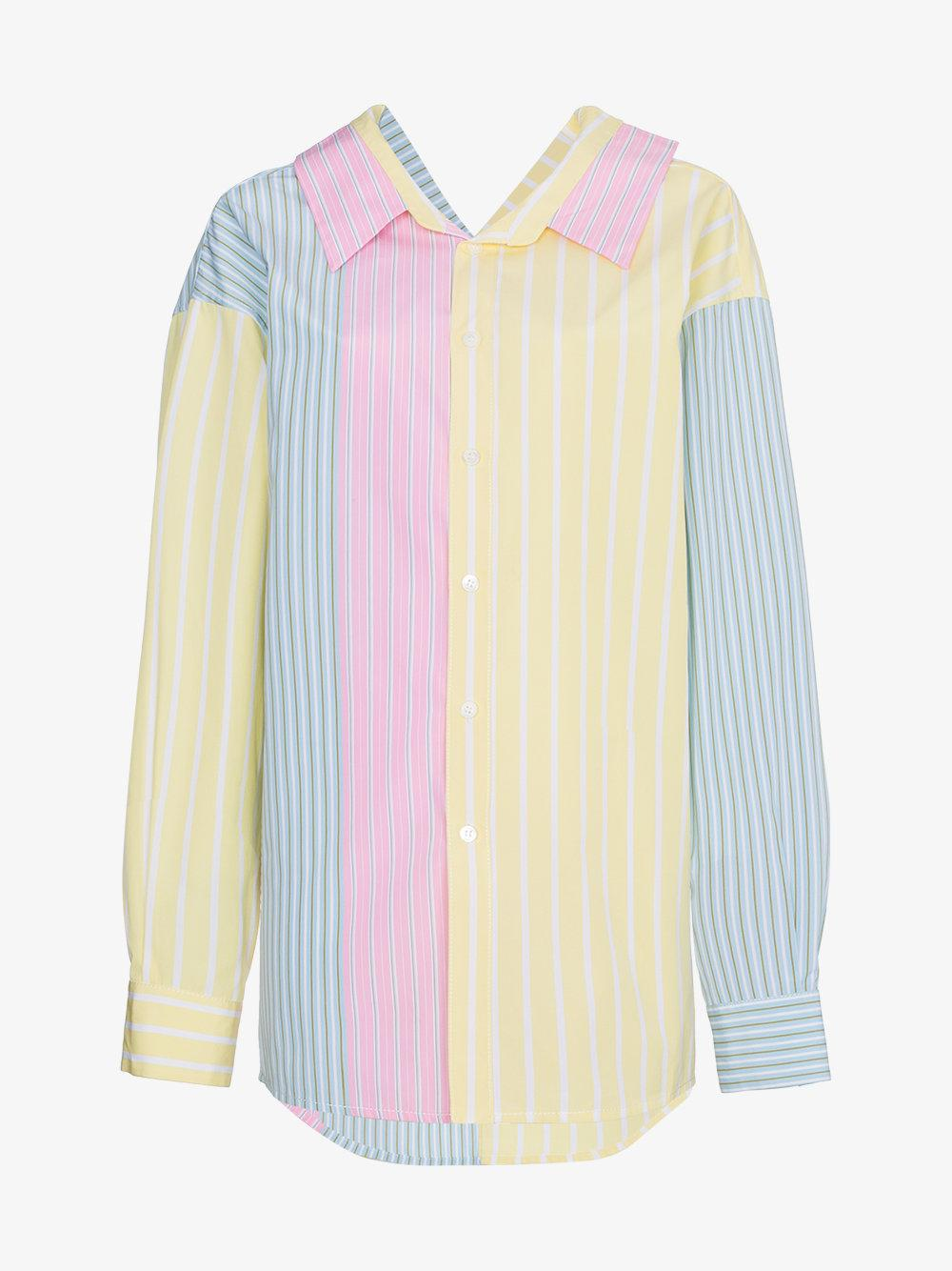Buy Cheap Pay With Visa Cheap Sale Deals striped panelled shirt - Multicolour Marni For Nice aZAuGBRmlr