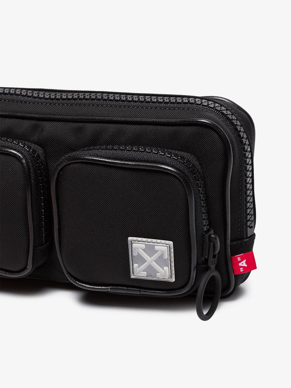 44098564e Off-White c/o Virgil Abloh Logo Tape Hip Belt Bag in Black for Men ...
