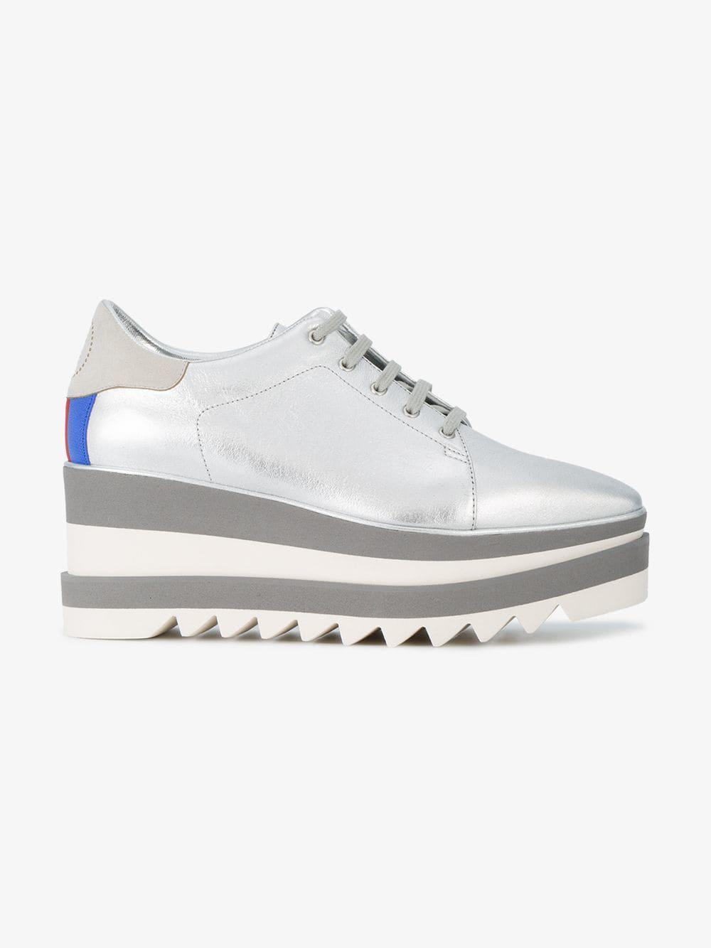 af40c5428118 Stella McCartney - Metallic Sneak-elyse Platform Sneakers - Lyst. View  fullscreen