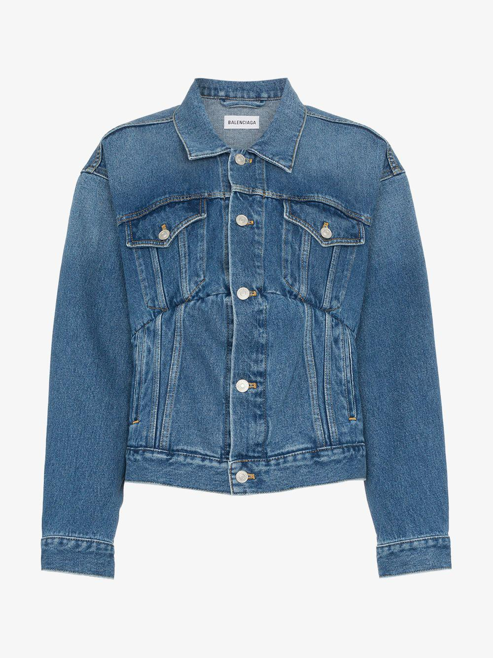 00a2770d027f26 Balenciaga Swing Denim Jacket in Blue - Lyst