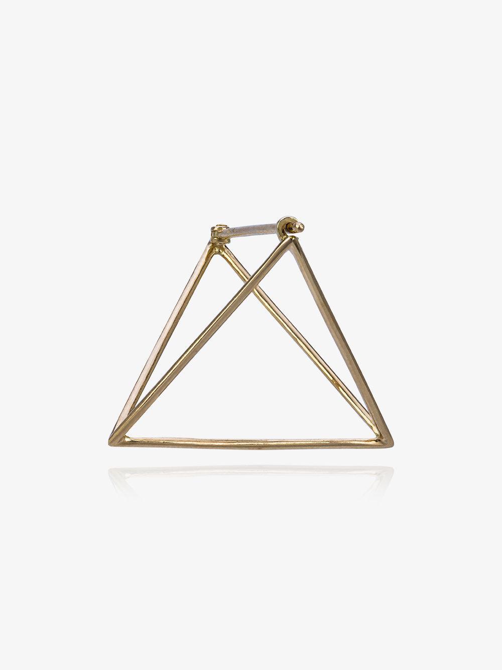 Shihara 25mm triangle earring - Metallic Wij8cShWD