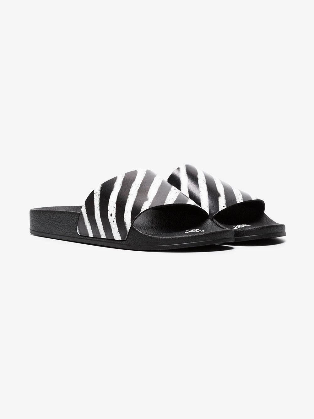 Giuseppe Zanotti Black & Orange Industrial Slides JtFoR2y