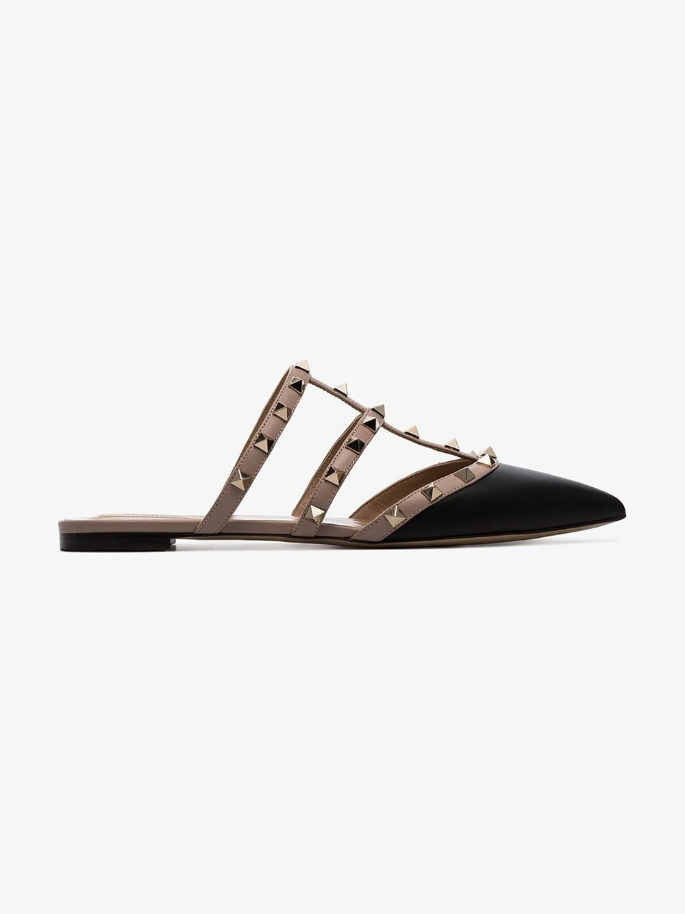 1b4ef00215a3 Valentino Rockstud Caged Mules in Black - Save 16% - Lyst