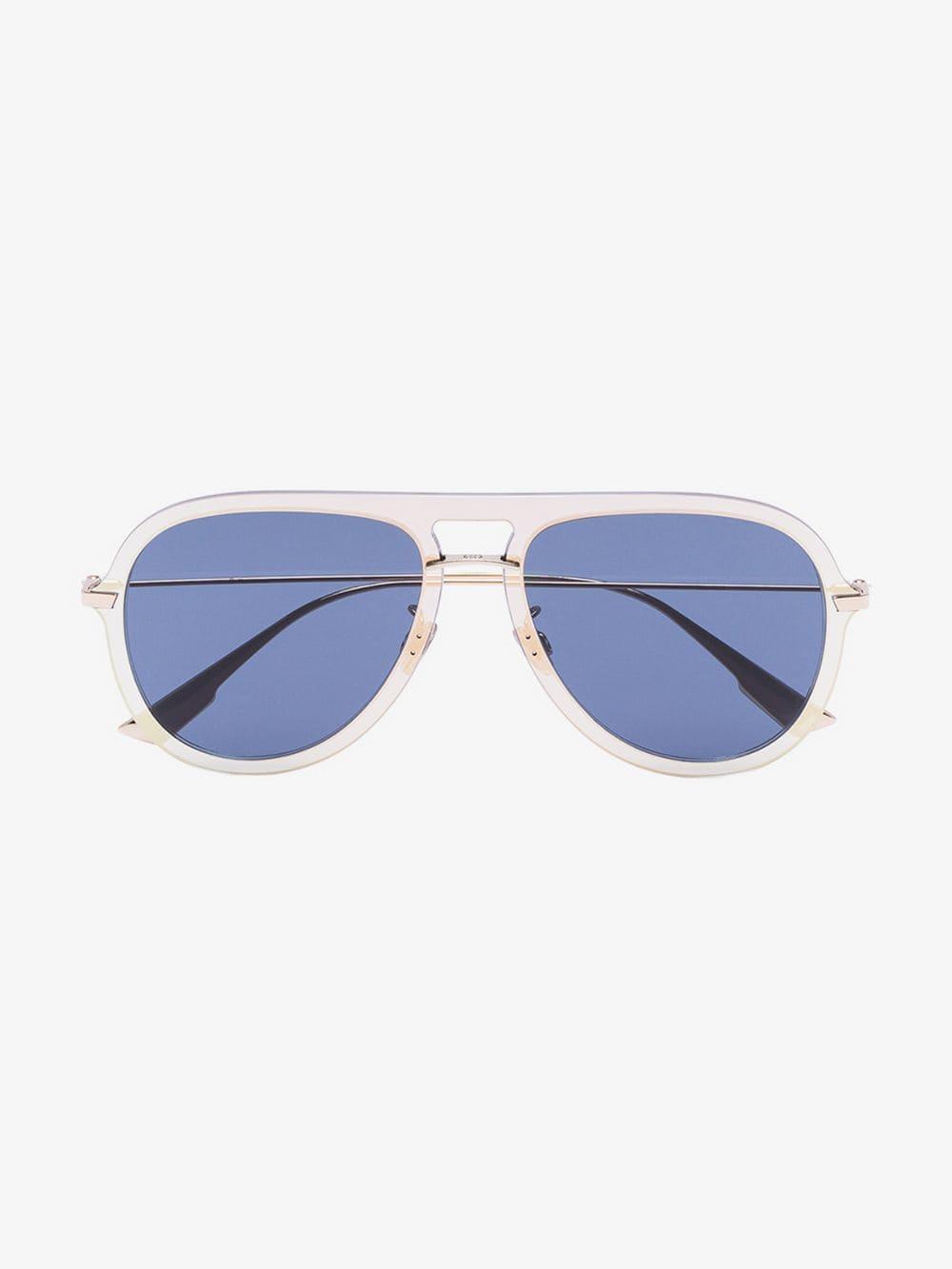 f9219357e26f Lyst - Dior Blue Diorultime1 Metal Aviator Sunglasses in Blue