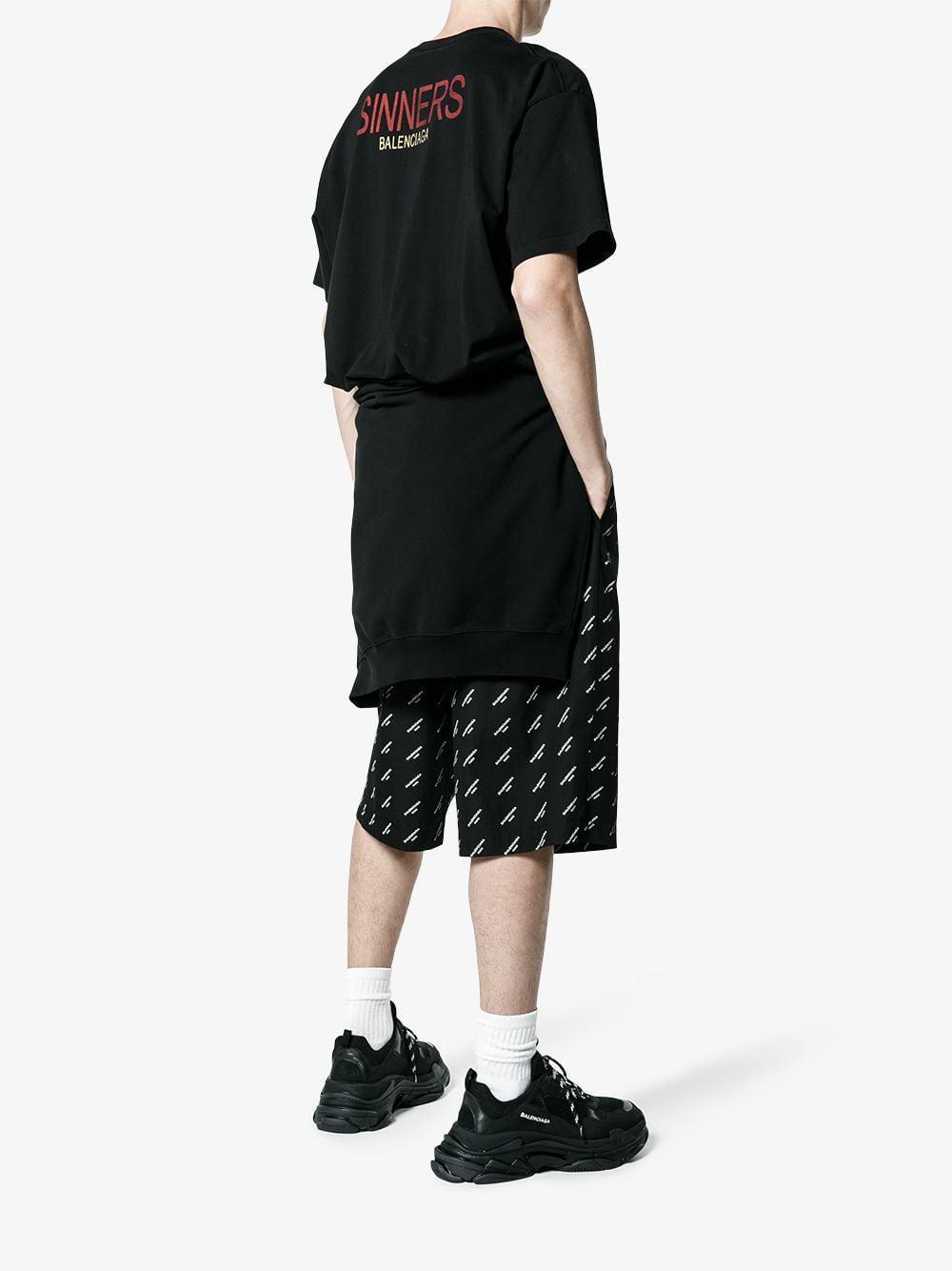 e4048812c743 Balenciaga Sinners T-shirt in Black for Men - Lyst