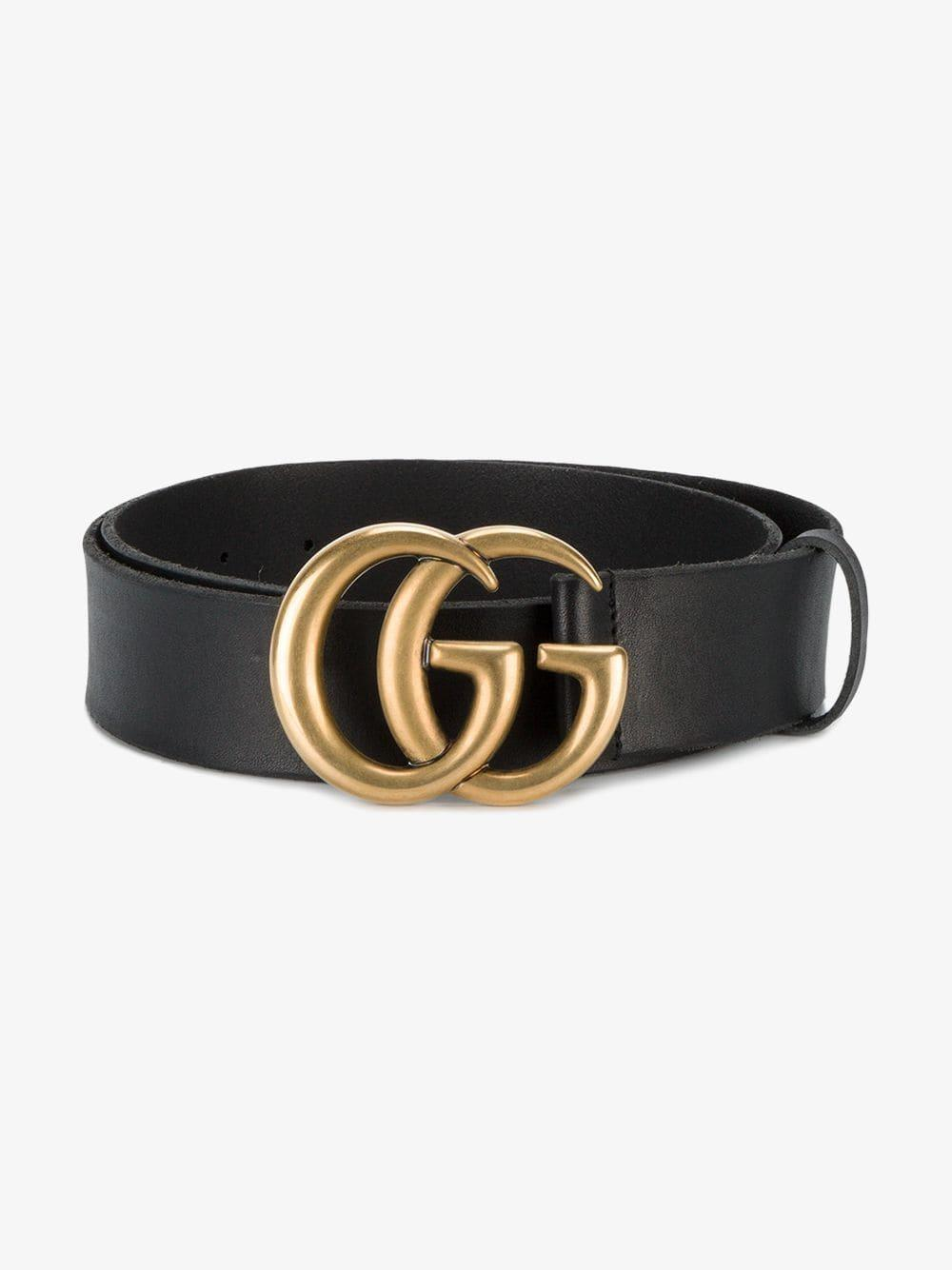 cc94d7bbb2d3c Gucci  double G  Belt in Black - Save 30% - Lyst