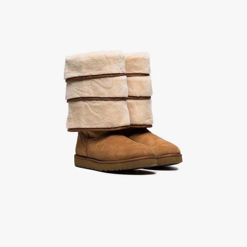Ugg Project Triple X In Lyst Shearling Y Brown Layered Boots qBTaaF