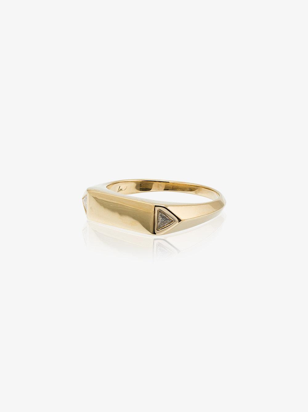 Lizzie Mandler Pave Diamond Overlap Pinky Ring - Metallic TJuarCqf