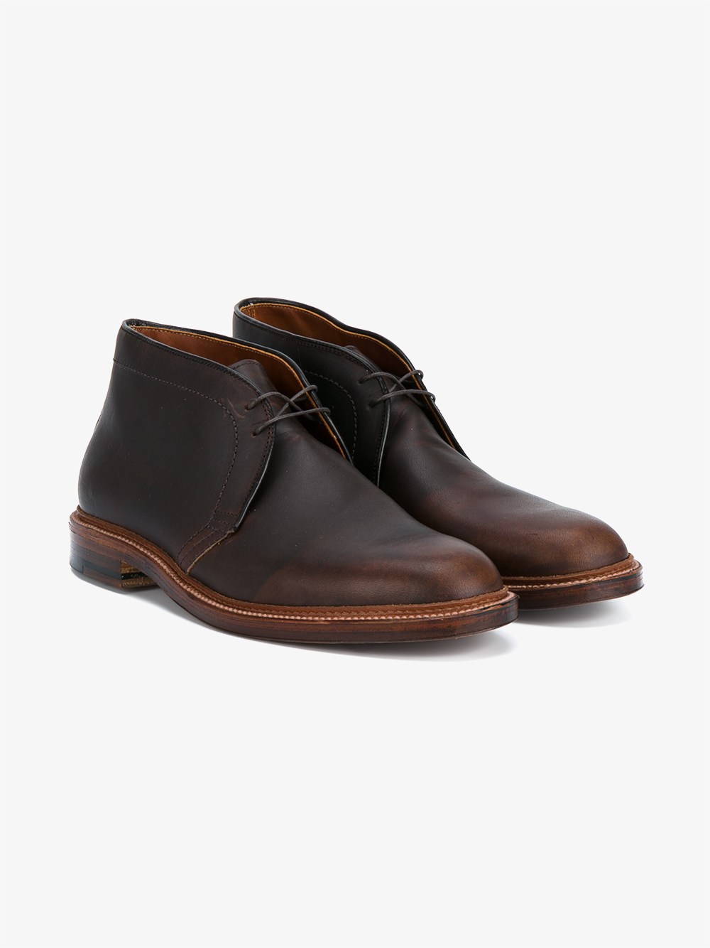 Lyst Alden Chukka Leather Boots In Brown For Men