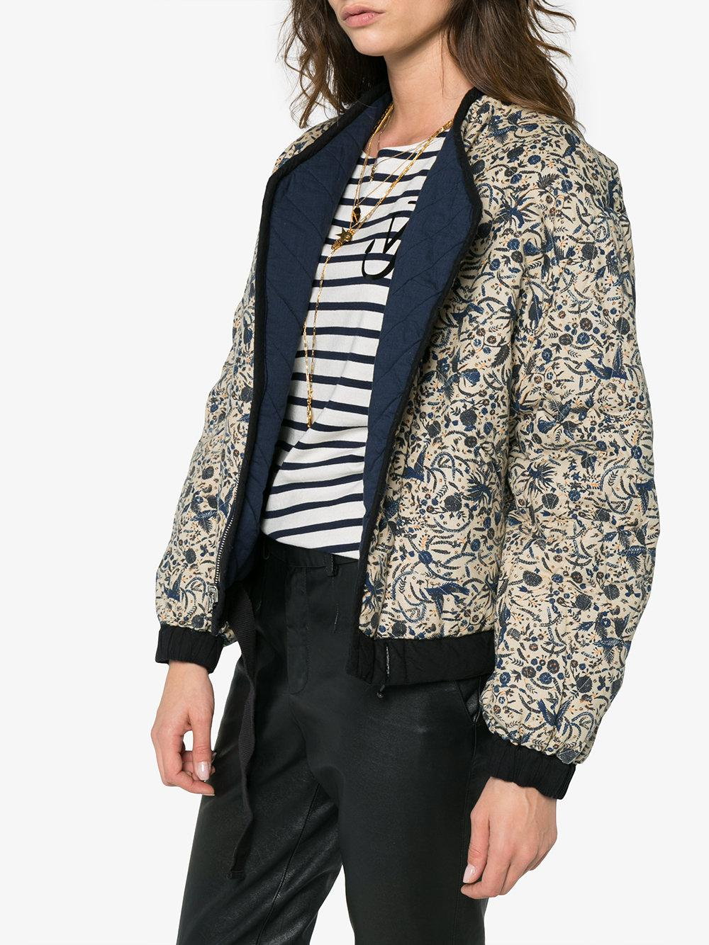 Reversible Floral Quilted Jacket - Blue Isabel Marant Buy Cheap Countdown Package UKVZzbx