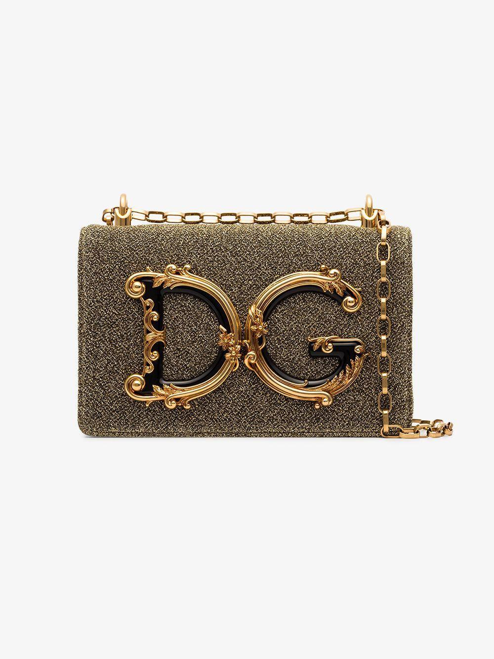 064dc86f0d1b Dolce   Gabbana - Metallic Baroque Logo Detail Shoulder Bag - Lyst. View  fullscreen