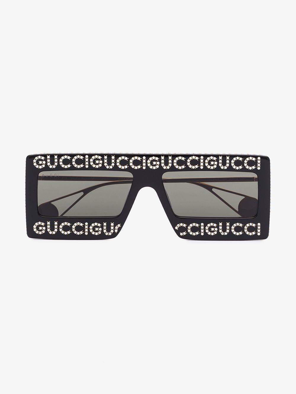 920bdda280 Gucci Mask-frame Acetate Sunglasses in Black - Lyst
