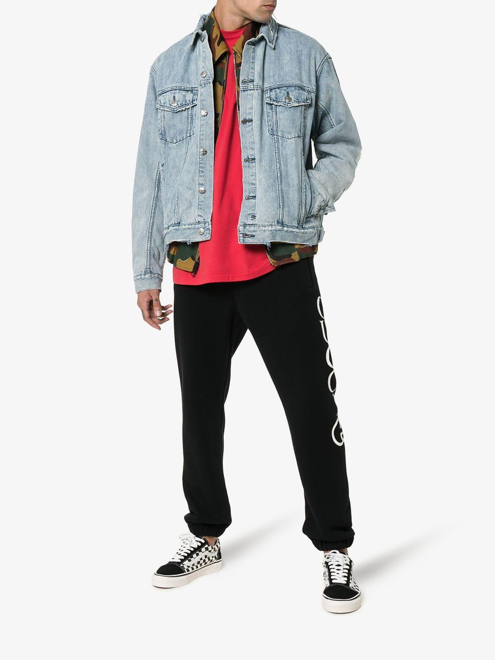 b71be247f7 Lyst - Ksubi Oh G Distressed Denim Jacket in Blue for Men - Save 18%