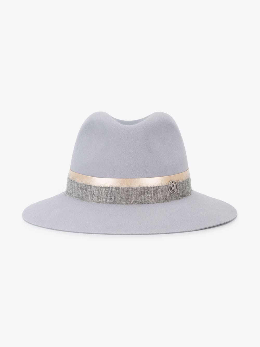 f4688416af9 Maison Michel - Gray Grey Henrietta Fedora Hat - Lyst. View fullscreen
