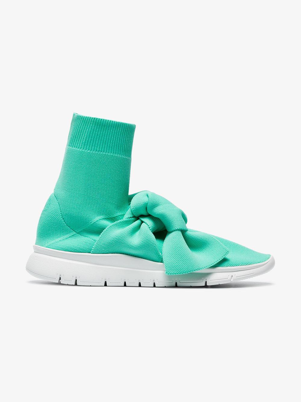 Turquoise Knot sock sneakers - Green Joshua Sanders 2p5XH5CD0