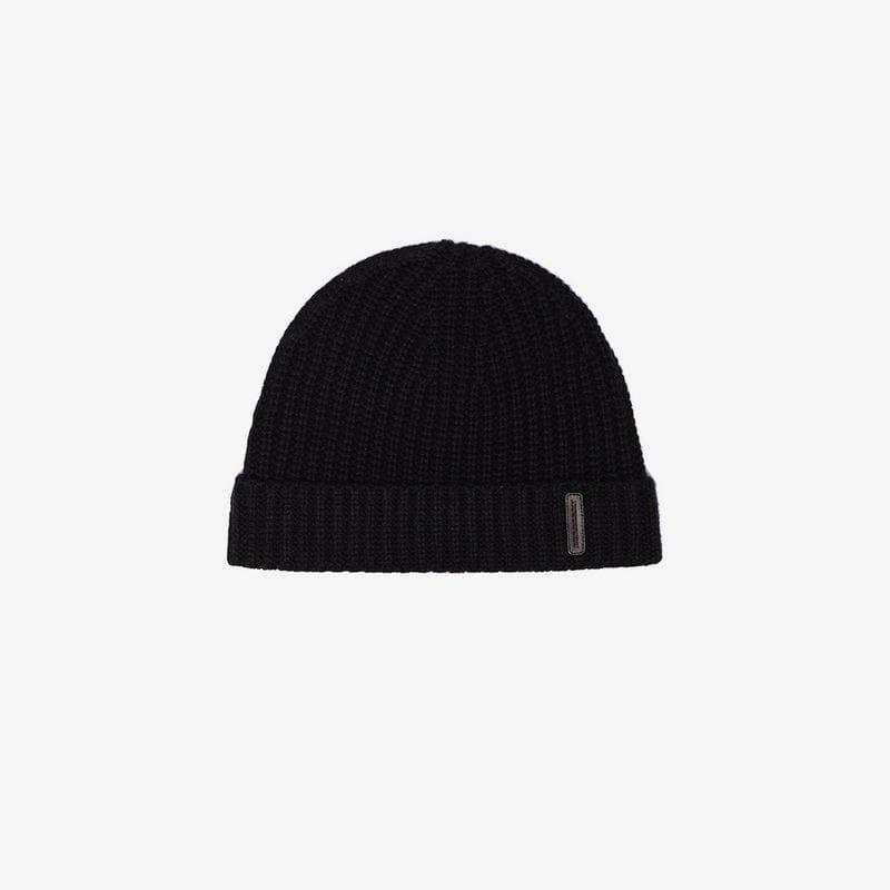 4a913d87d59 Burberry Black Fisherman Knitted Cashmere Beanie Hat in Black for ...