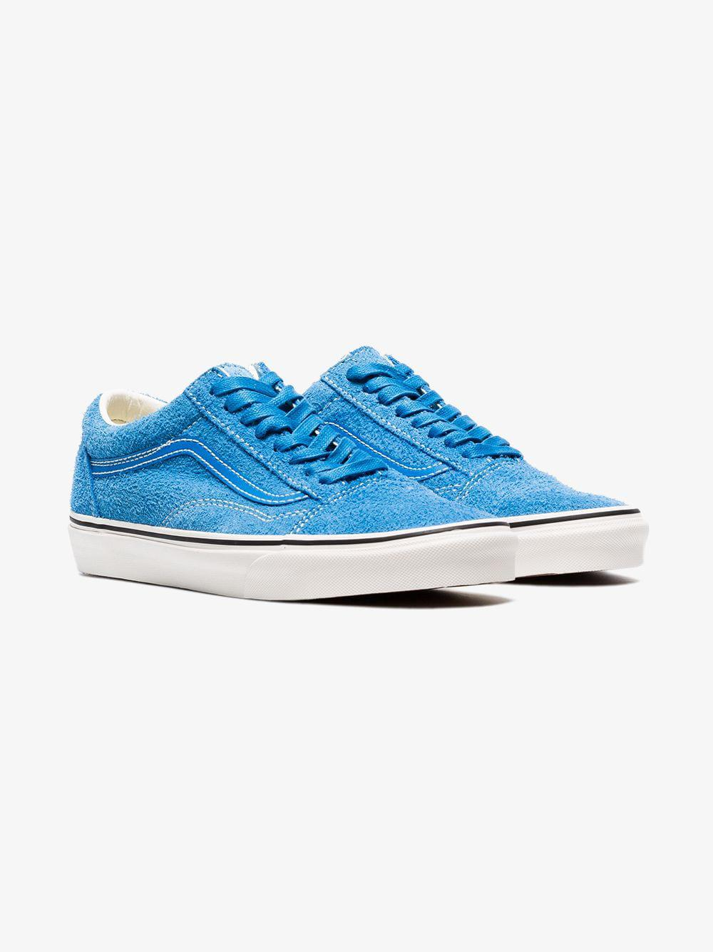 f0a204017e Vans Blue Hairy Old Skool Suede Sneakers in Blue for Men - Lyst