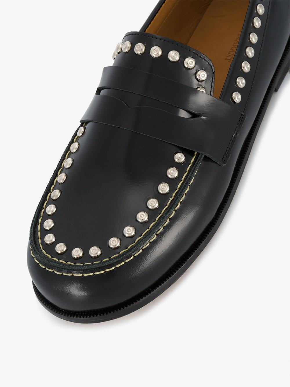 e70bc74a0e8 Lyst - Isabel Marant Fenzay Studded Penny Loafers in Black