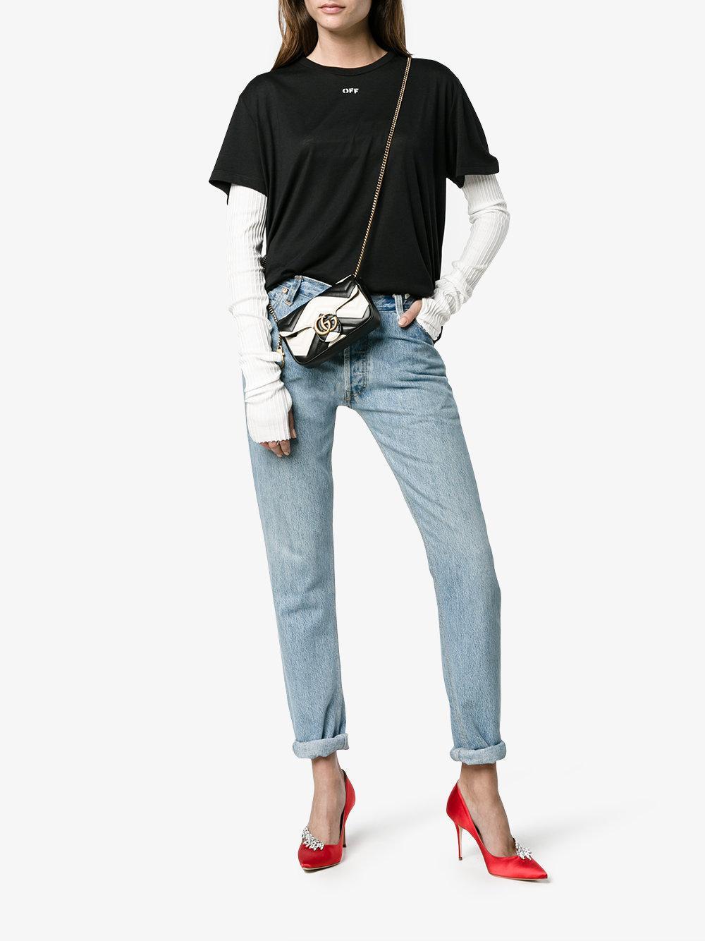 53e98348f26 Gucci Gg Marmont Super Mini White