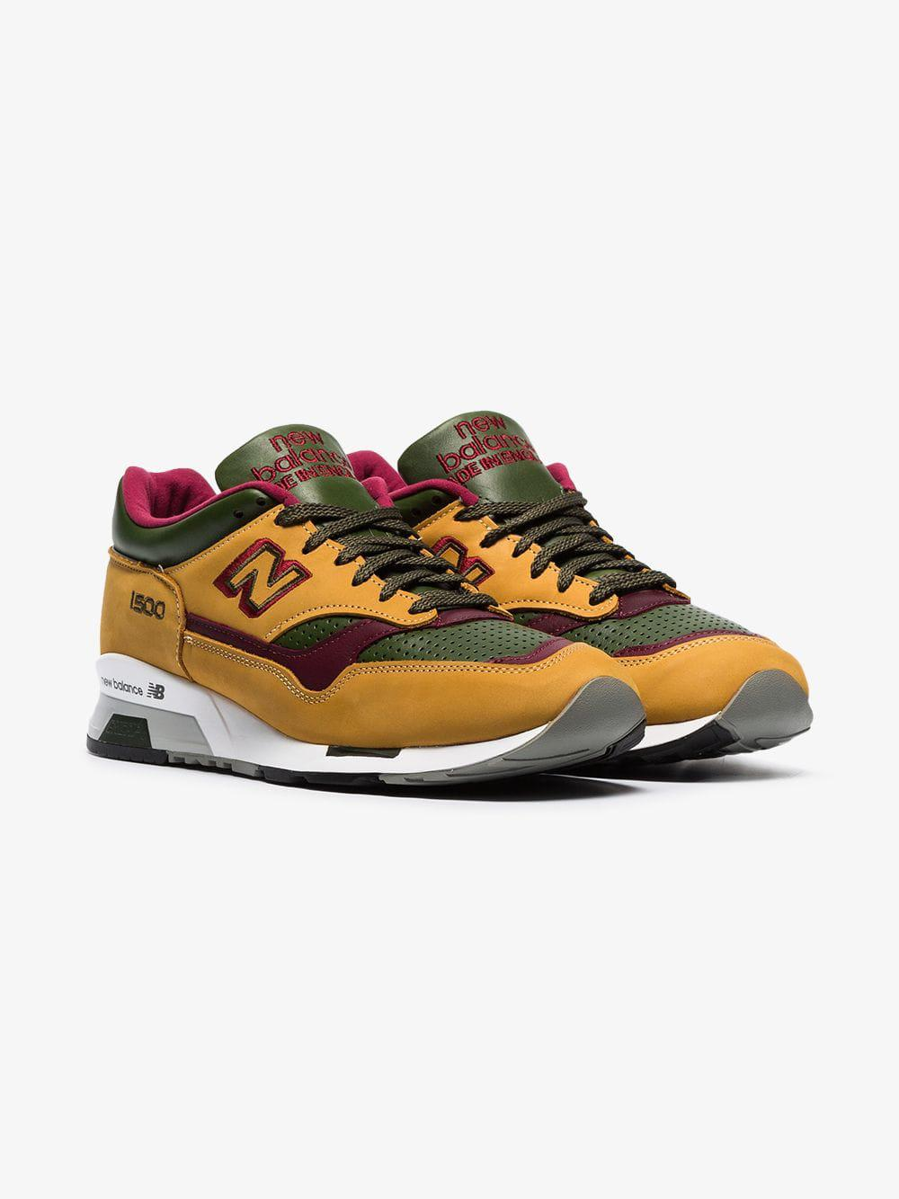 Lyst - New Balance Yellow Green And Purple M1500 Trainers in Brown ... 747ead3434056