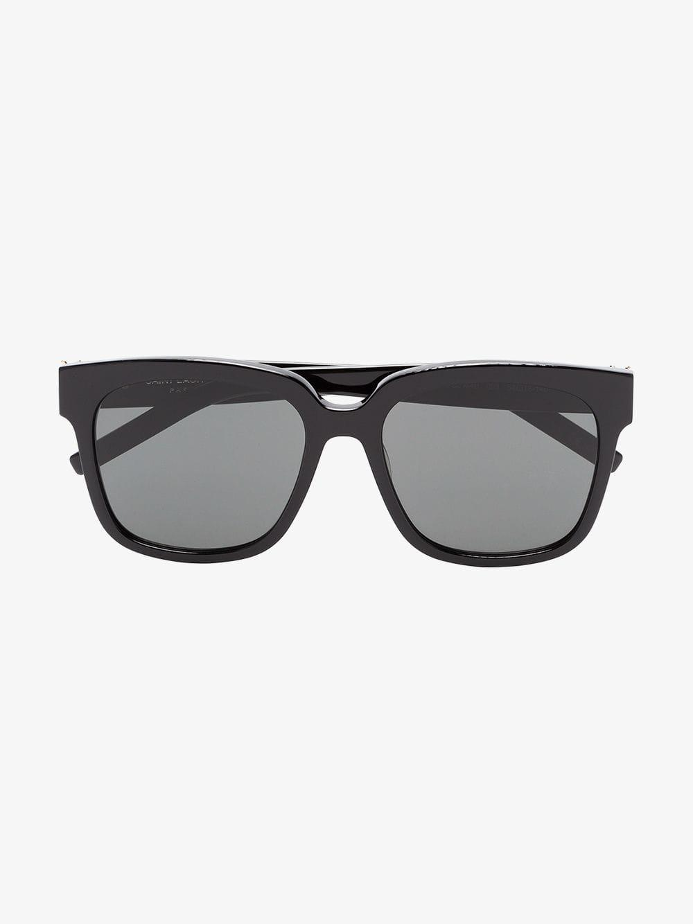 9d23136e537 Saint Laurent - Black M40 003 Square Sunglasses for Men - Lyst. View  fullscreen
