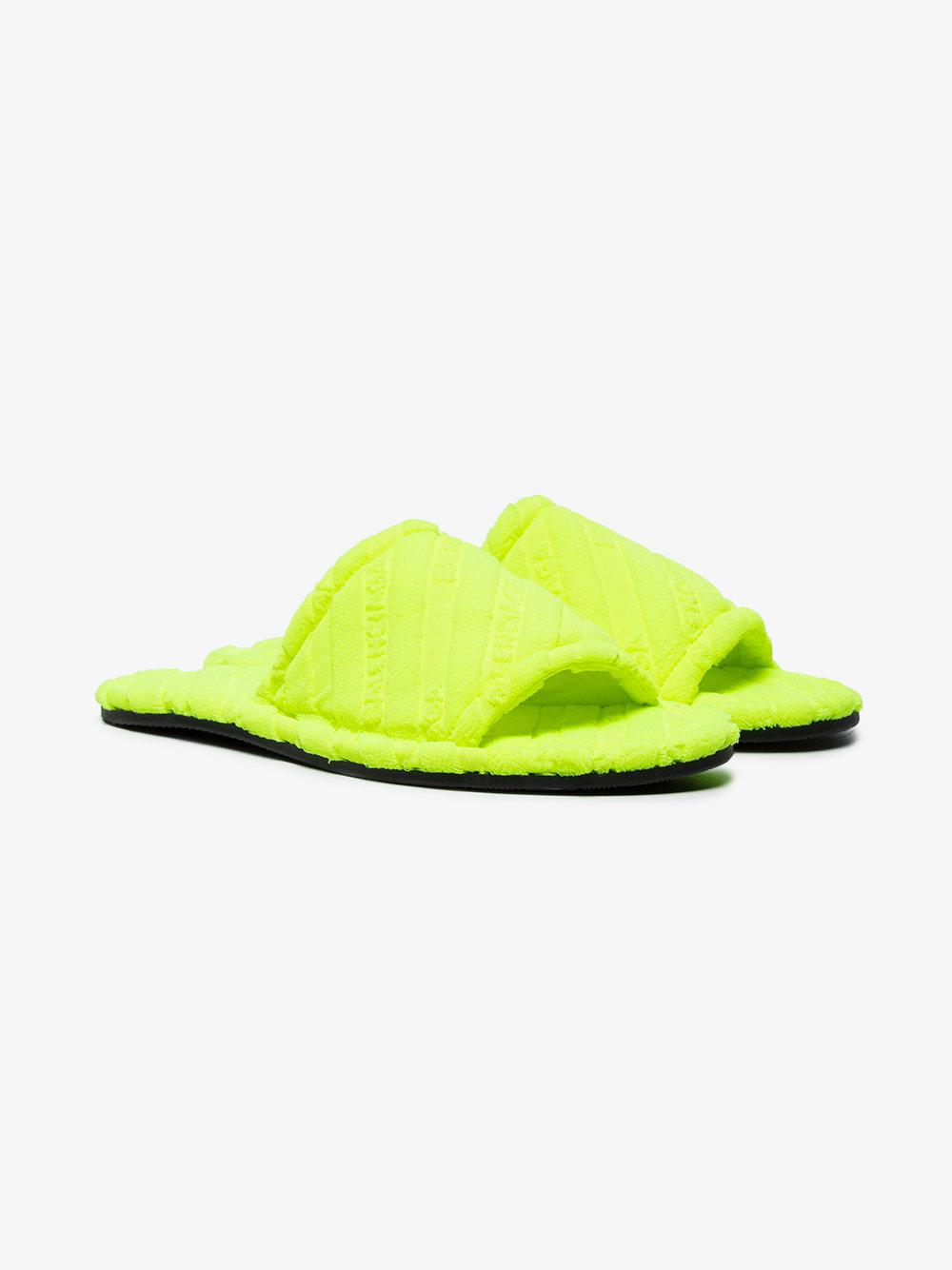 Yellow terry hotel slides Balenciaga XEzp8CE