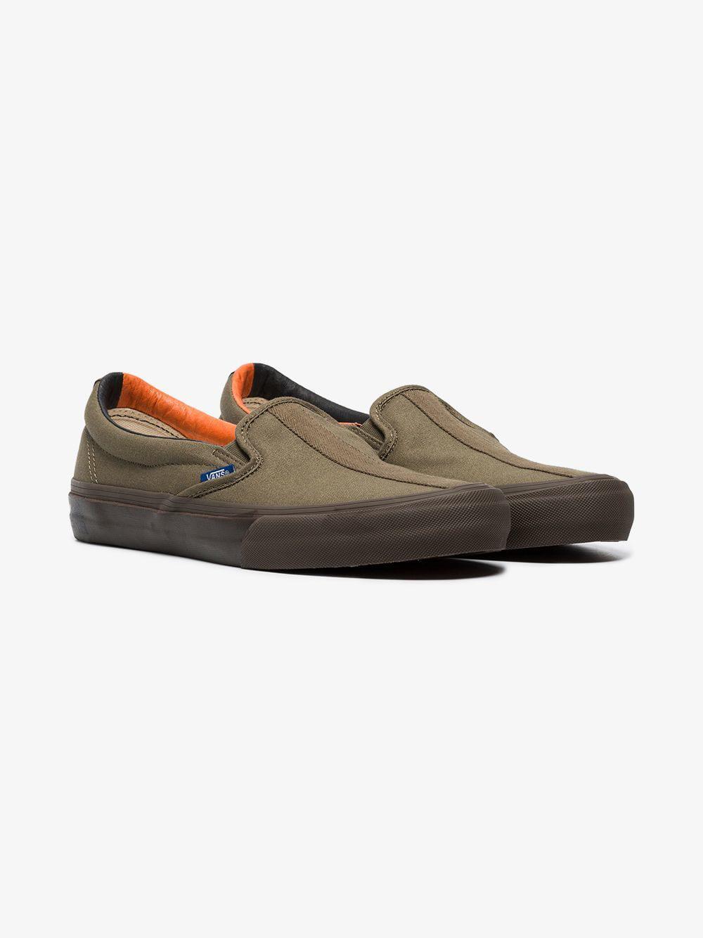 3c9f93e26b Vans - Multicolor Green Vault Cotton Slip On Sneakers for Men - Lyst. View  fullscreen