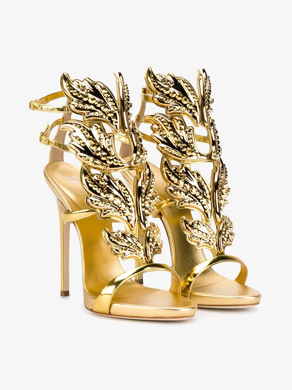 3e04a7d3be8 Lyst - Giuseppe Zanotti Gold Cruel 130 Sandals in Metallic