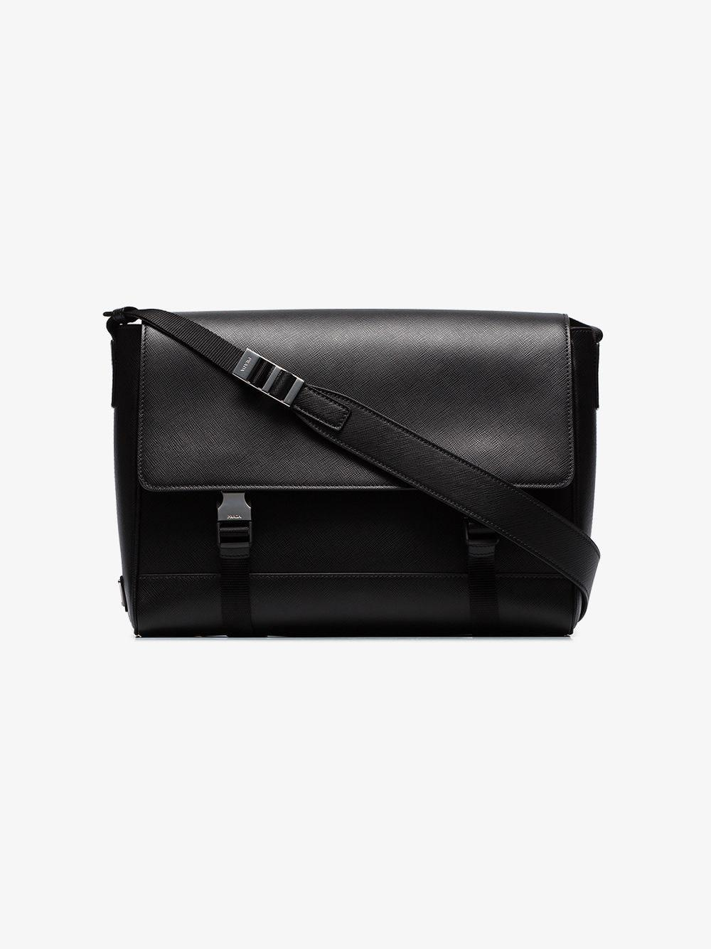 bdd88c7e2f0c Lyst - Prada Saffiano Leather Shoulder Bag in Black for Men
