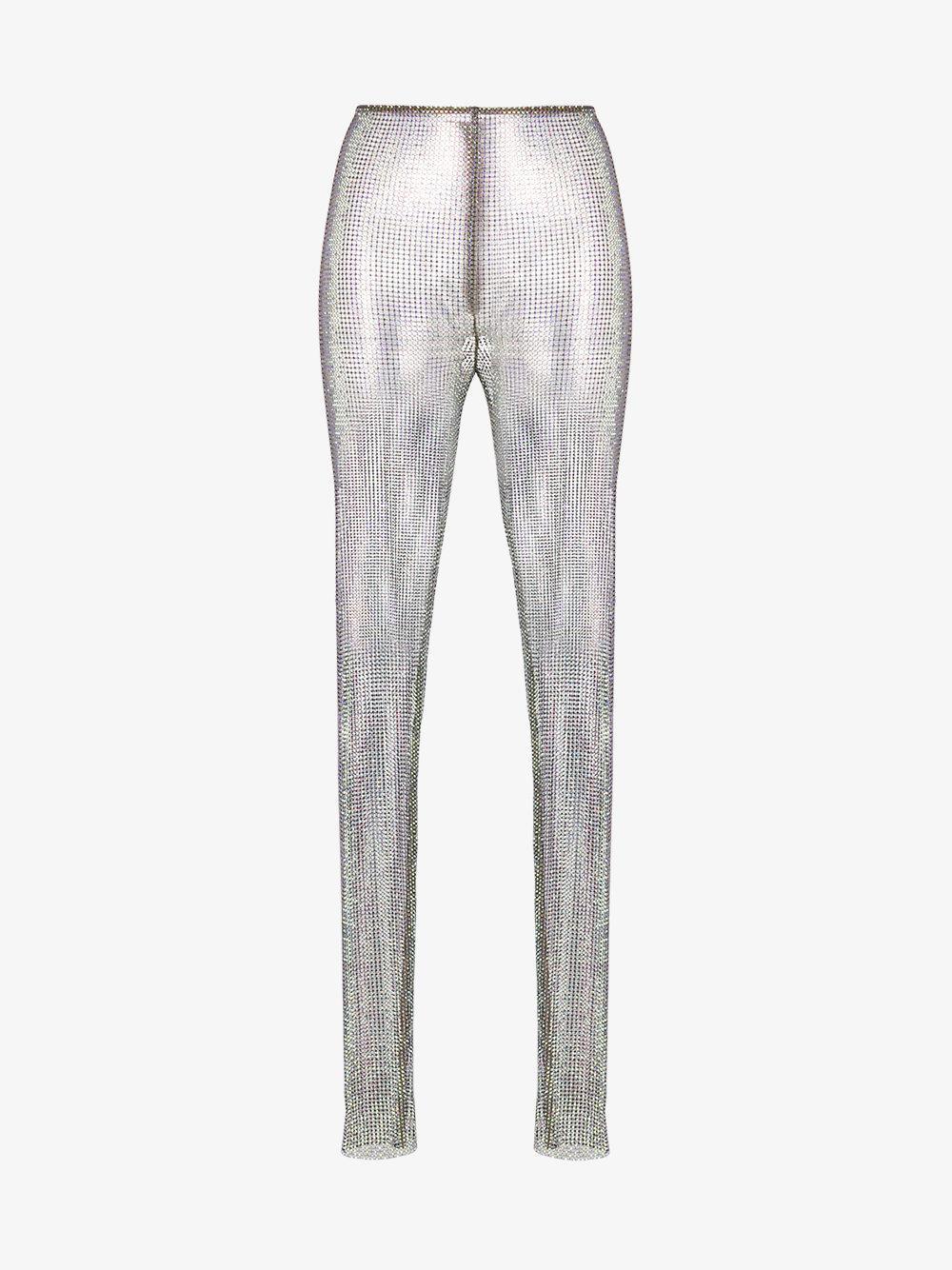 1cf50414ae6 Lyst - Gucci Crystal Net Leggings in Metallic