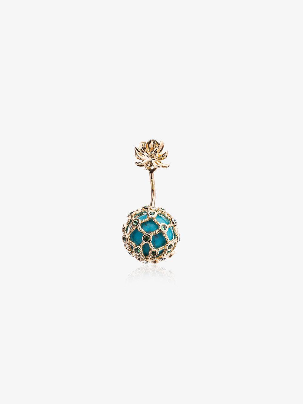 Yvonne Léon Gold Mini Pineapple Pearl Earring - Metallic 2D9oIwB