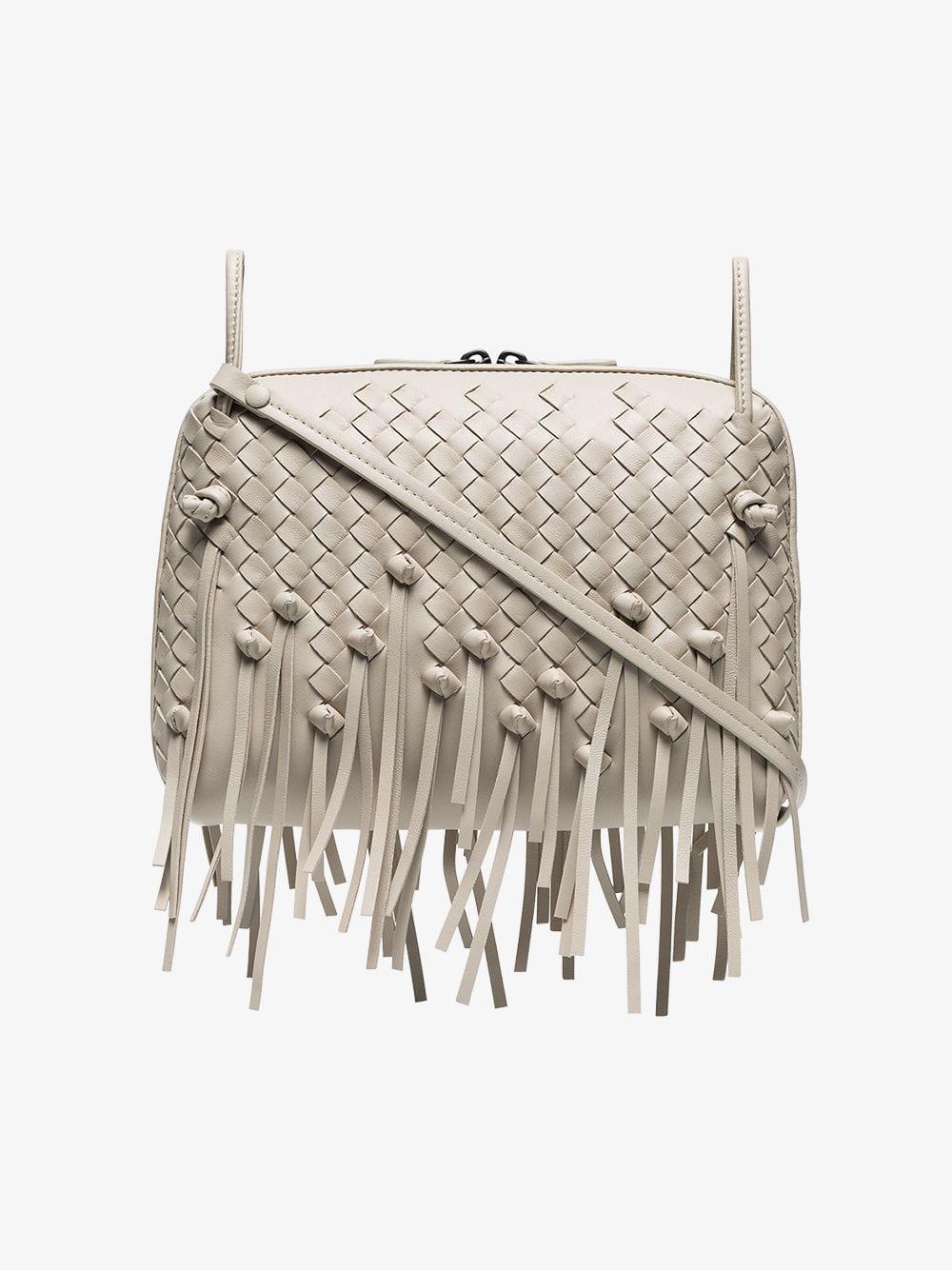 7fcb7b1b23 Bottega Veneta Cream Nodini Leather Shoulder Bag in Natural - Lyst