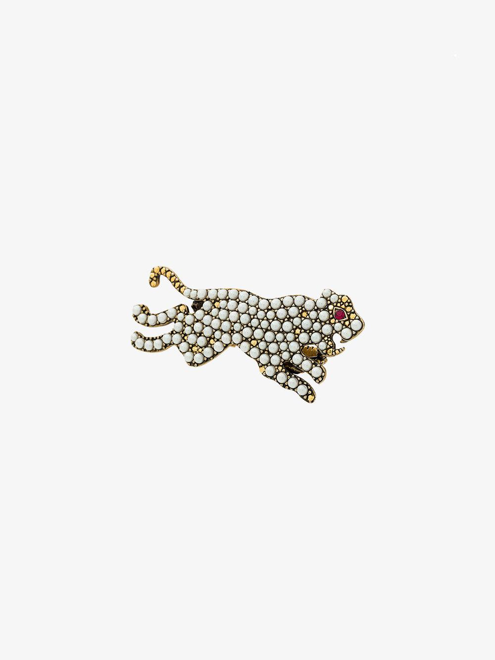 tiger multi-finger ring - Metallic Gucci p914w