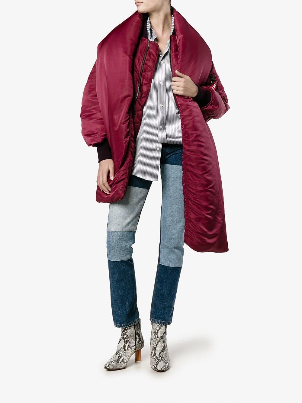 Balenciaga Detachable Collar Puffer Jacket Lyst