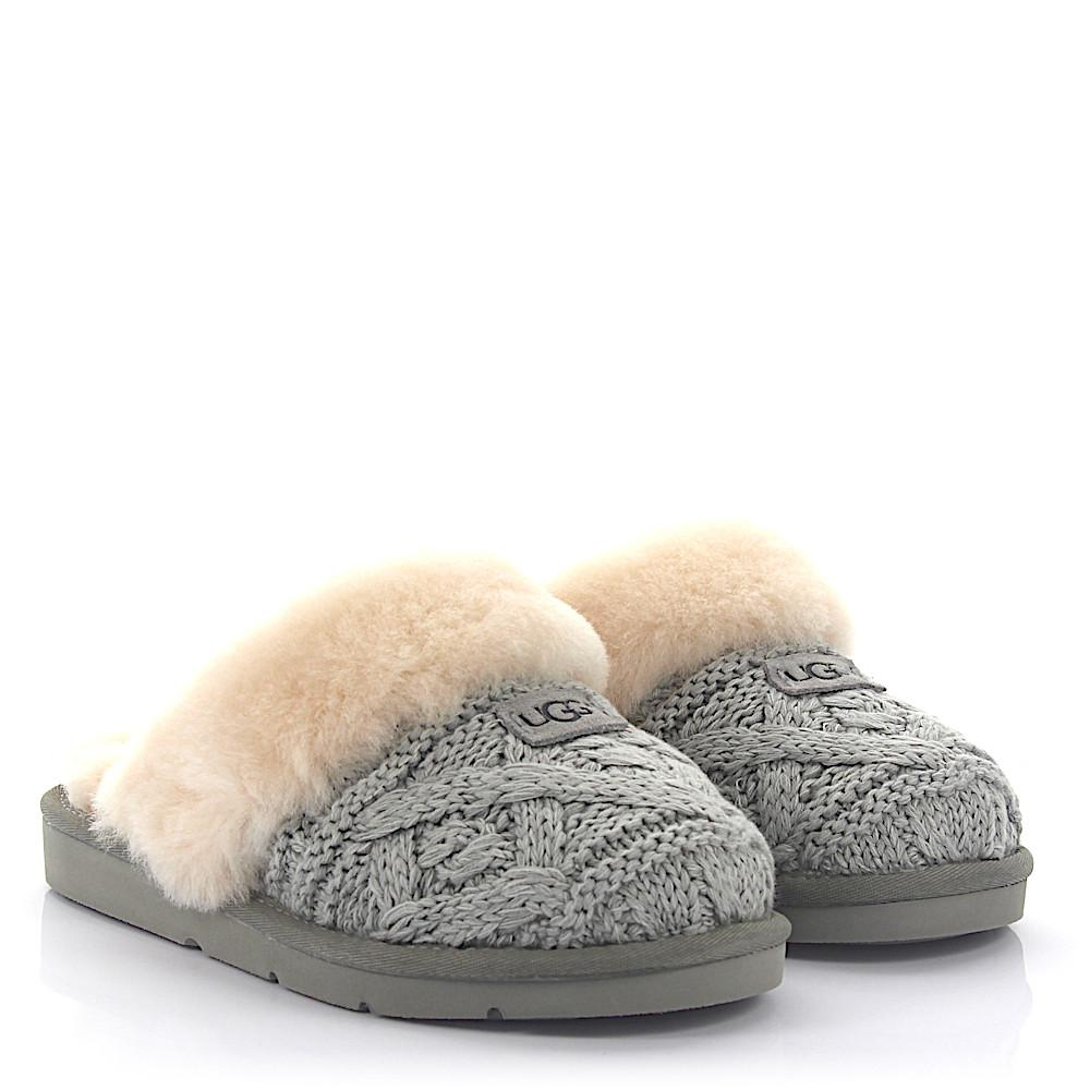 Buy Cheap Cheap Low Cost UGG House Slippers COZY CABLE knitted lamb fur OoQPfGgd7