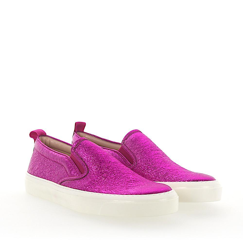 Slip-On crinkled calfskin pink Gucci nFs4wA