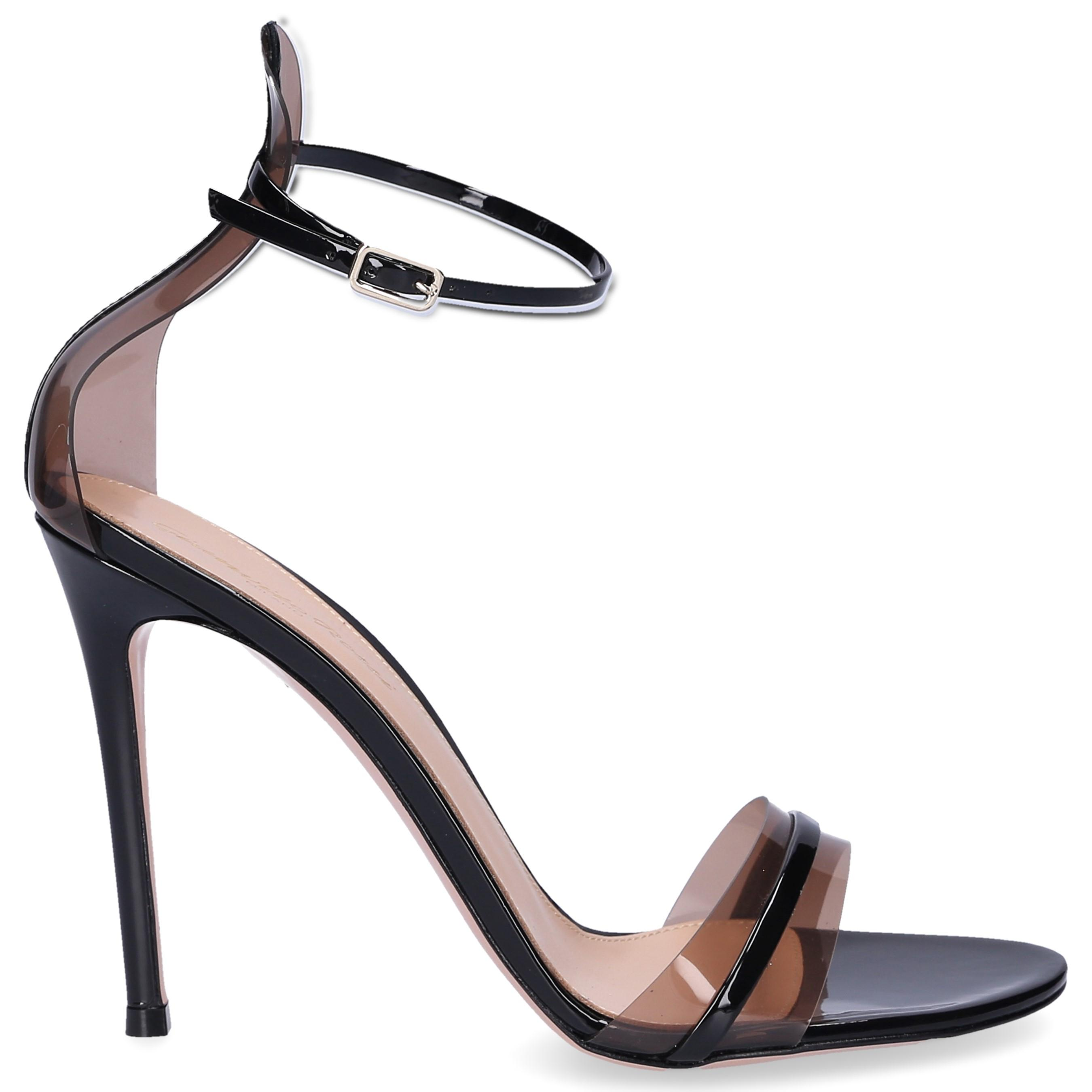 ff33369e09f Gianvito Rossi Sandals G String Patent Leather Pvc Black in Black - Lyst
