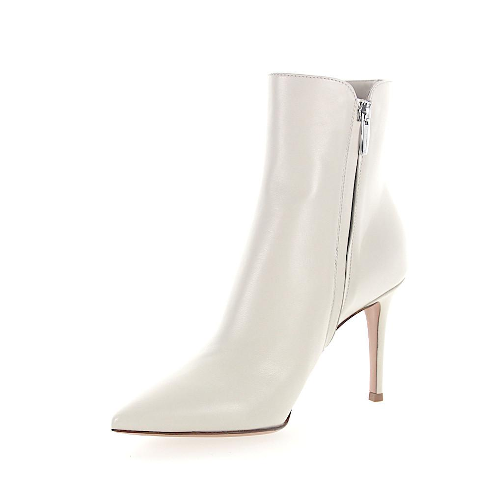 Gianvito Rossi Boots LEVY 85 nappa leather creamy white