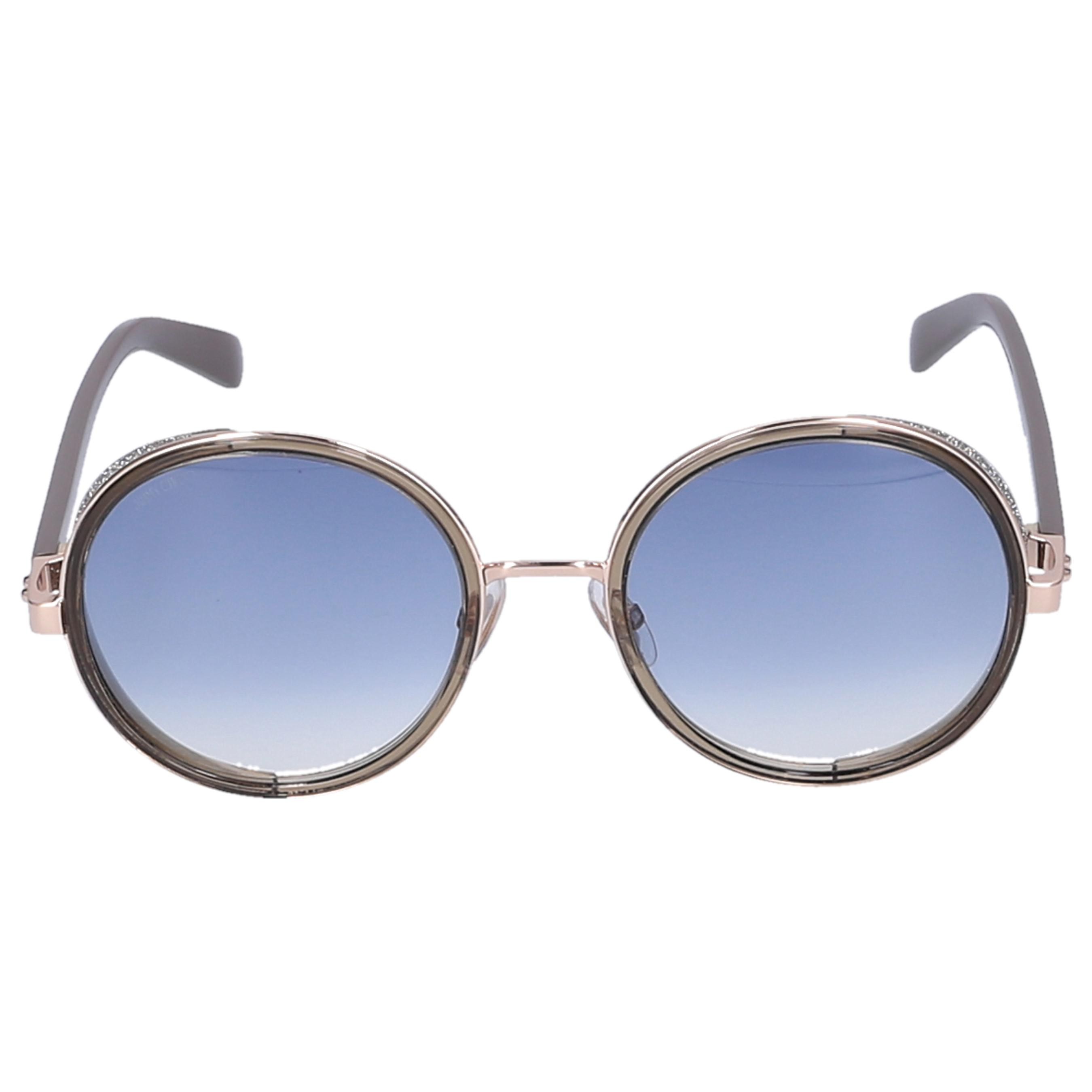 02c270ee435 Lyst - Jimmy Choo Sunglasses Round Andie Metal Grey