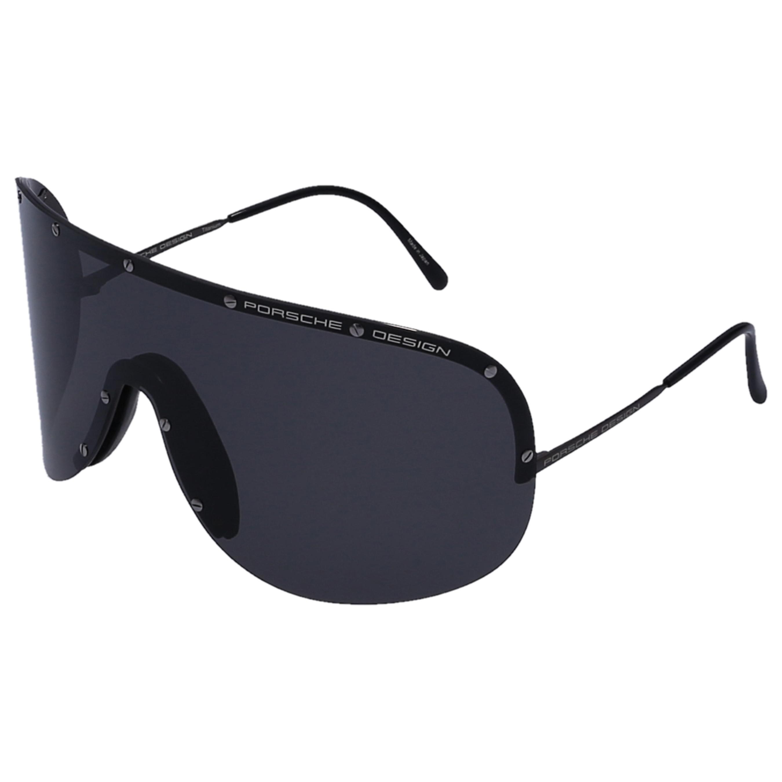 ae785f43807 Porsche Design - White Men Sunglasses Shield 8479 Metal Black for Men - Lyst.  View fullscreen