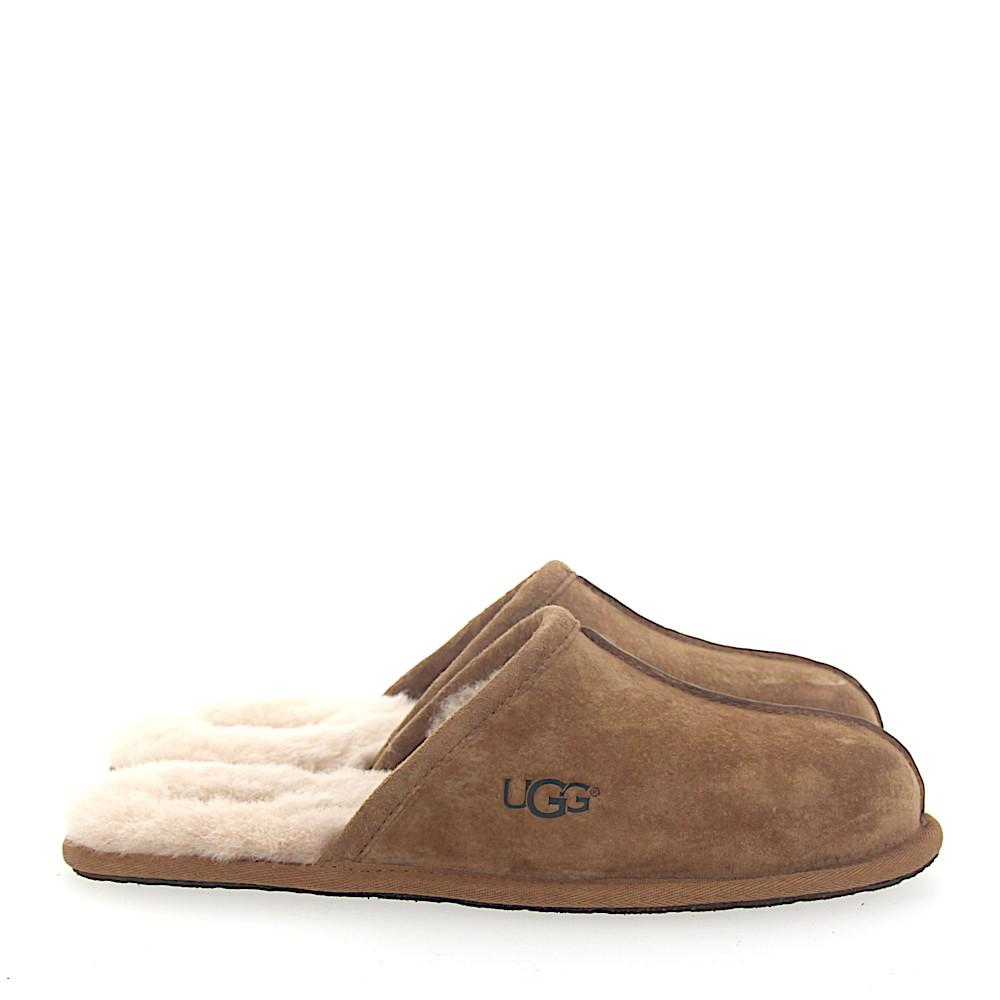 d165368ea3ef Lyst - UGG House Slippers Scuff Suede Beige Lamb Fur in Natural for Men