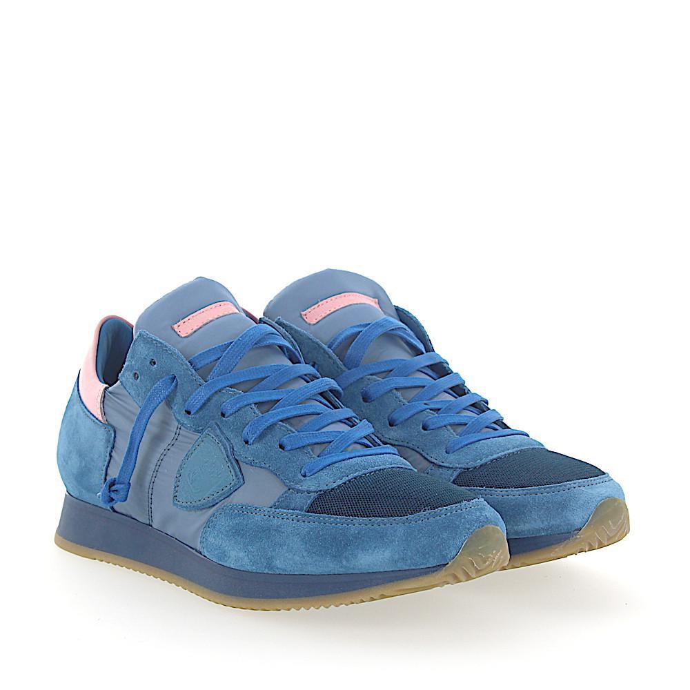 Sneakers TROPEZ Jeans blue mesh Philippe Model dsUeDB