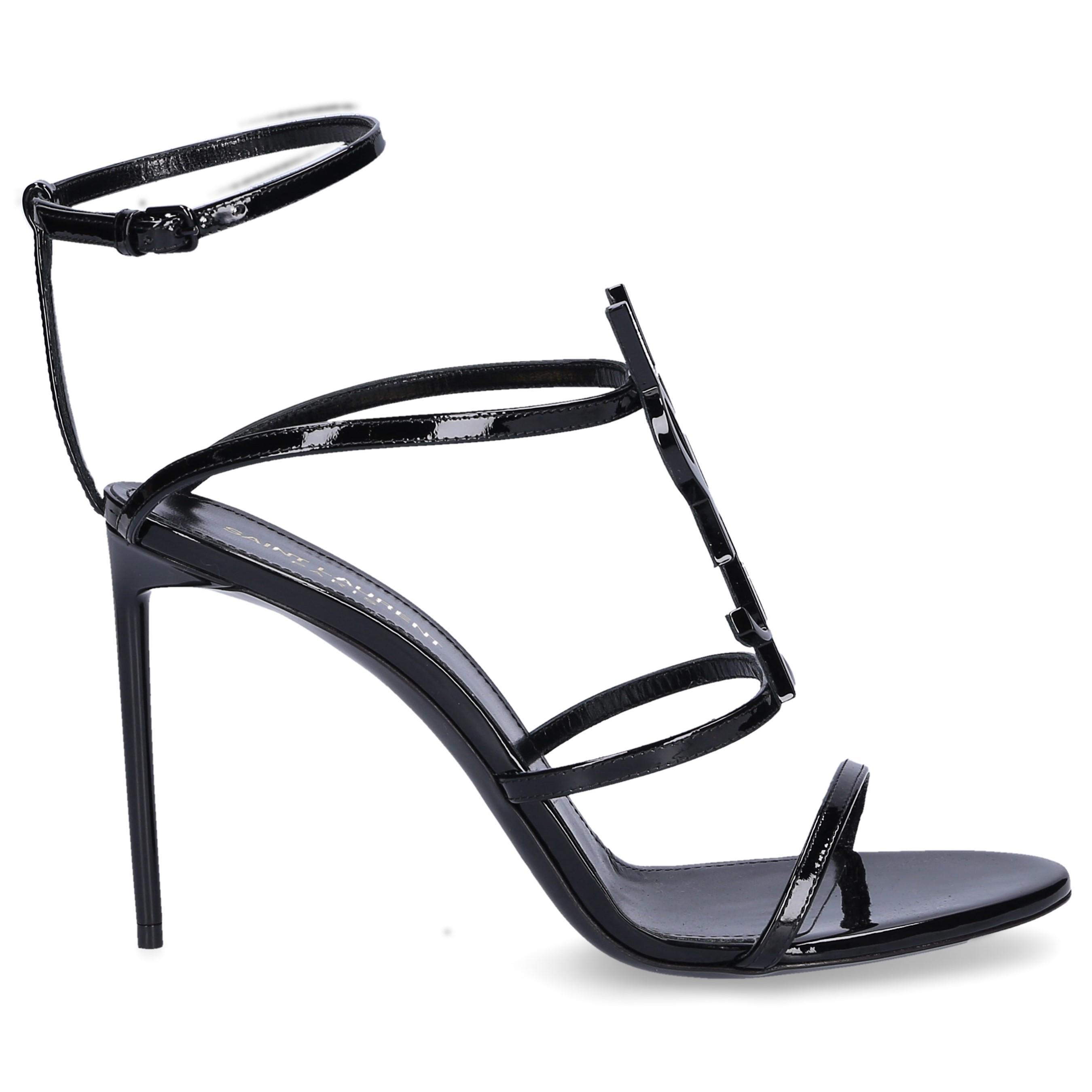c8dcba9a6 Saint Laurent. Women s Slingback Court Shoes Cassandra Patent Leather Logo  Black