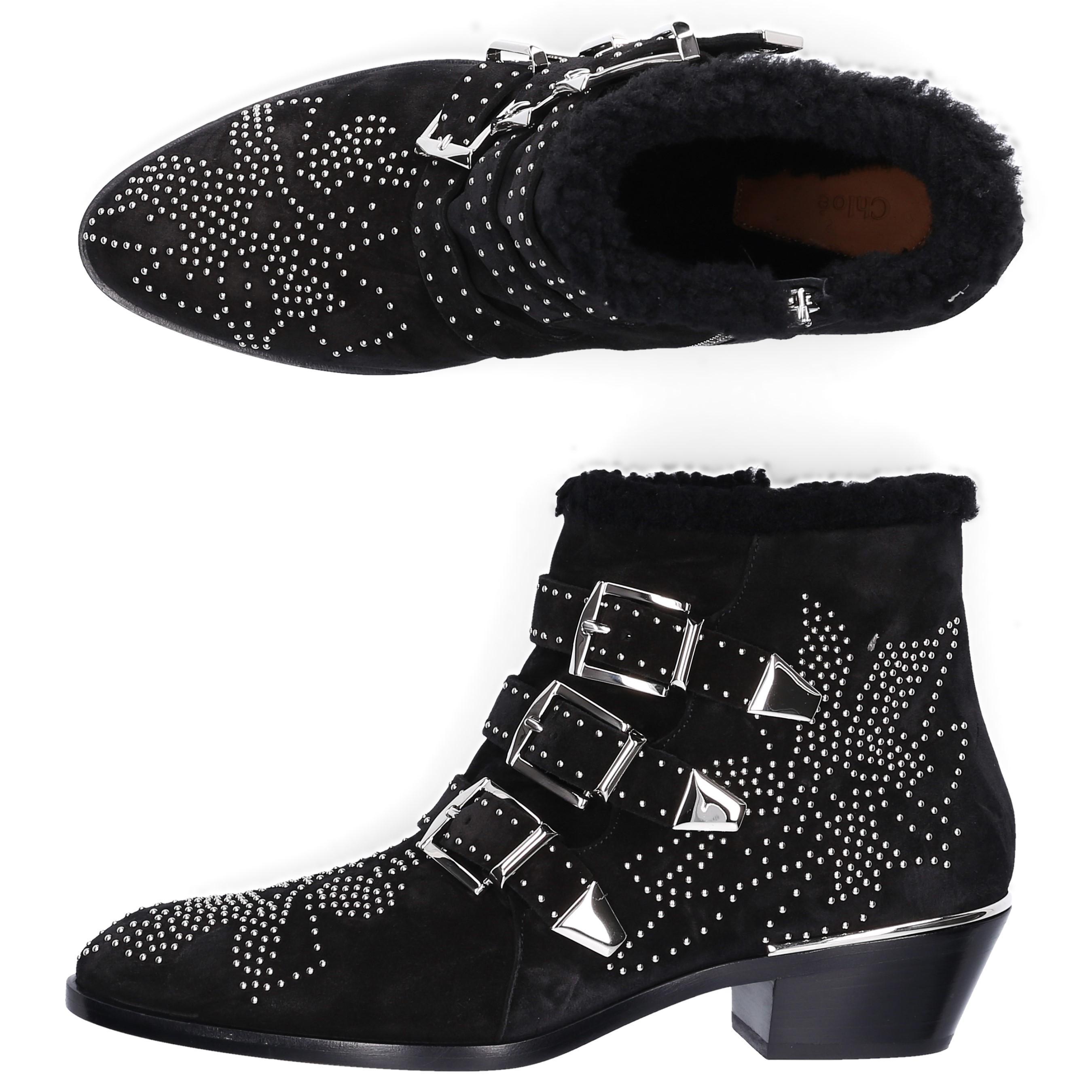 d0e2ac9fdb8 Chloé - Black Susanna Ankle Boots - Lyst. View fullscreen