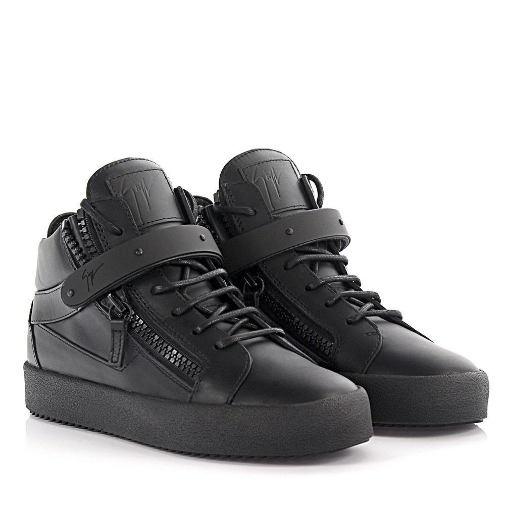Giuseppe Zanotti Sneakers Mid Cut Dan May London leather nzLjpV