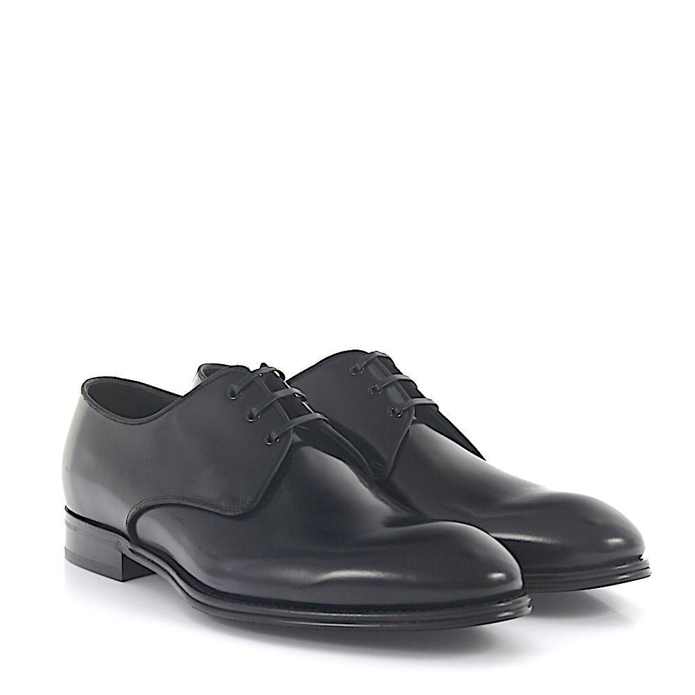 Derby SICILIA leather black Dolce & Gabbana 439DEk