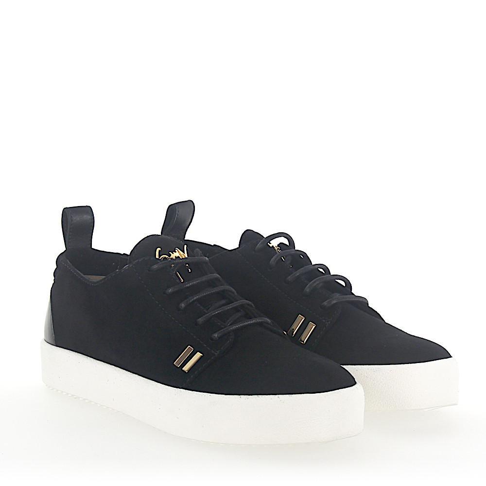 Sneaker MAY calfskin suede black Giuseppe Zanotti uuioR