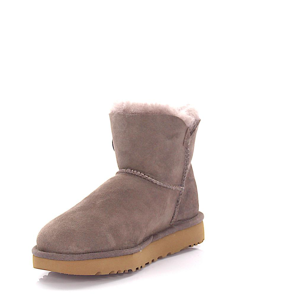 UGG Boots MINI BAILEY BUTTON 2 suede lilac lamb fur 3fOhQ