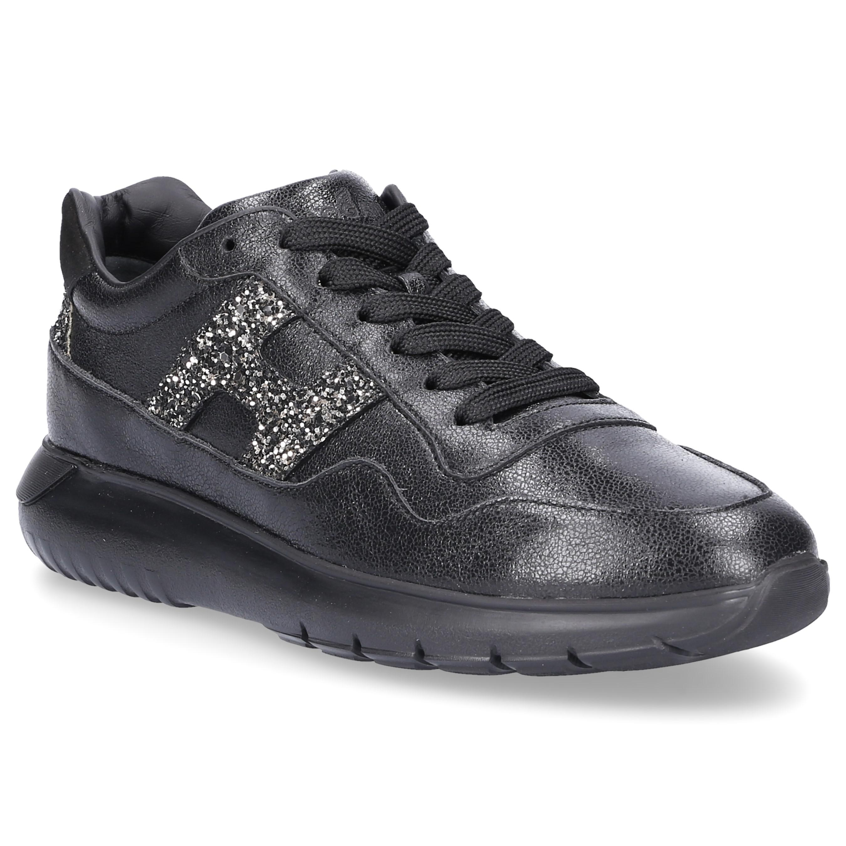 Sneaker smooth leather suede Glitter Logo black Hogan Clearance Ebay Clearance Fast Delivery LNpz7G